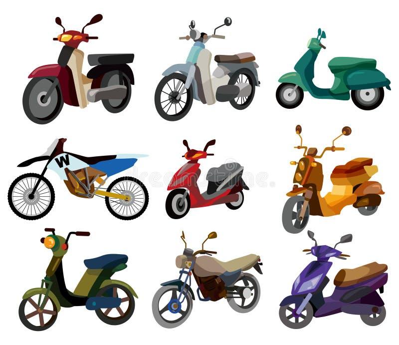 kreskówki ikony motocykl royalty ilustracja