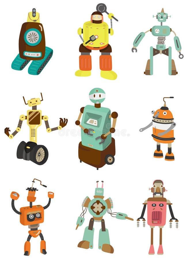 kreskówki ikony robot ilustracji
