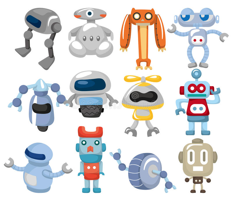 kreskówki ikony robot ilustracja wektor