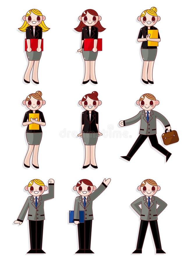 kreskówki ikony urzędnicy ilustracji