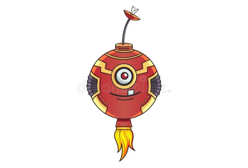 Kreskówki ilustracja Śliczny Żelazny robot ilustracja wektor