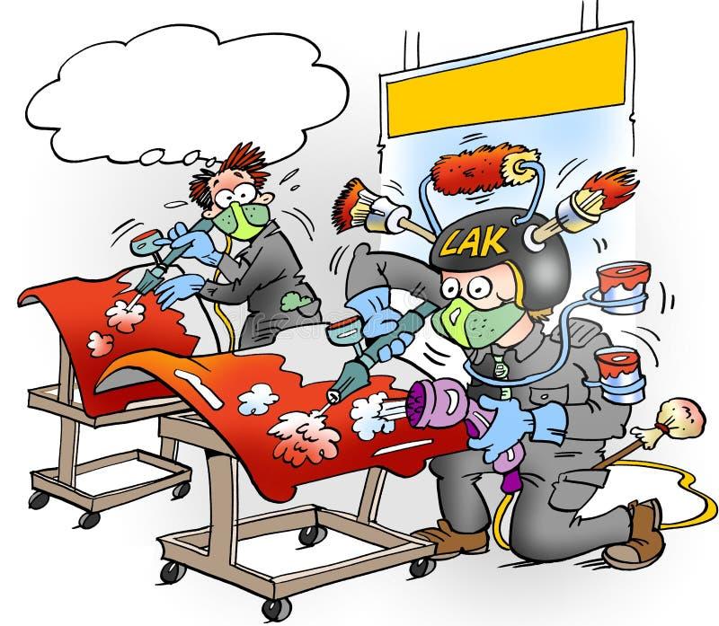 Kreskówki ilustracja Automators z wszystkie wyposażeniem dostosowywającym prawidłowo royalty ilustracja