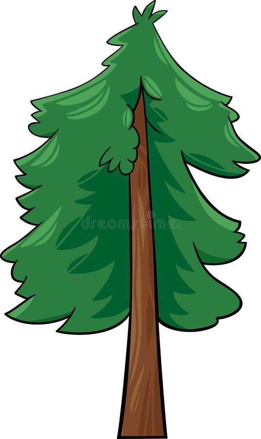 Kreskówki ilustracja conifer drzewo ilustracja wektor