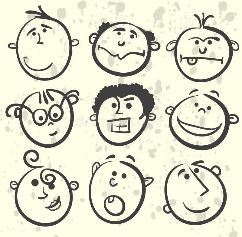kreskówki inkasowa twarzy ilustracja ilustracji