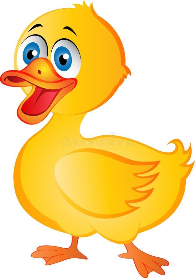 Kreskówki kaczka ilustracja wektor