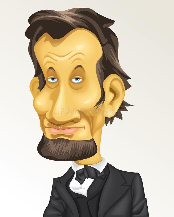 Kreskówki karykatury Presidente Dziejowy usa Abraham Lincoln Washington ilustracji