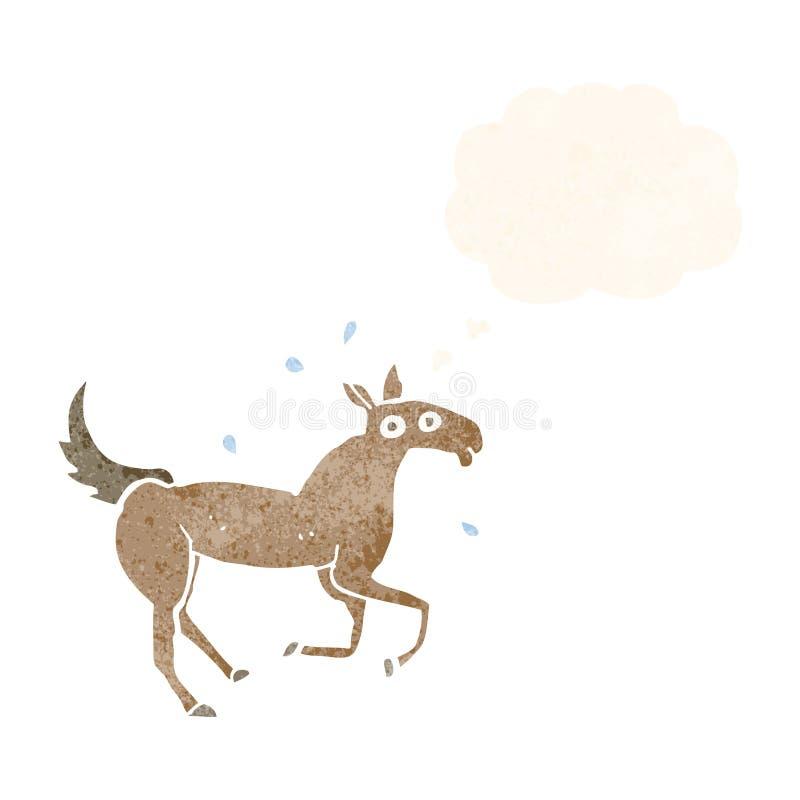 kreskówki koński pocenie z myśl bąblem royalty ilustracja