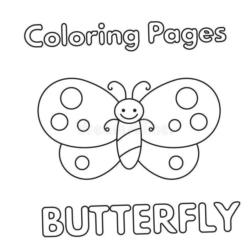 Kreskówki kolorystyki Motylia książka ilustracji