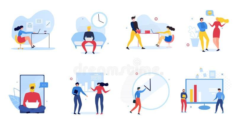 Kreskówki komunikacji Ustalonej ilustracji ludzie ilustracji
