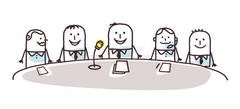 Kreskówki konferencja i ludzie biznesu royalty ilustracja