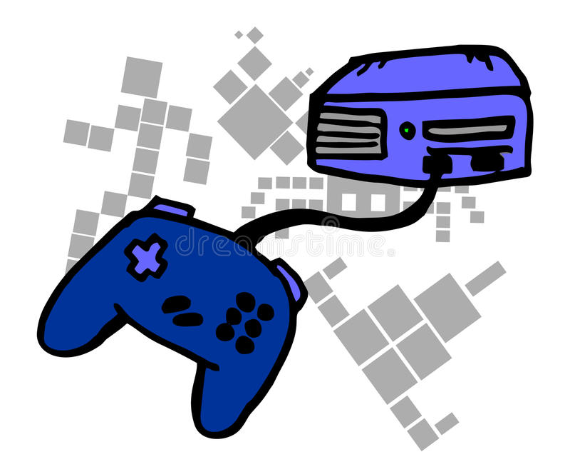 kreskówki konsola ilustracji