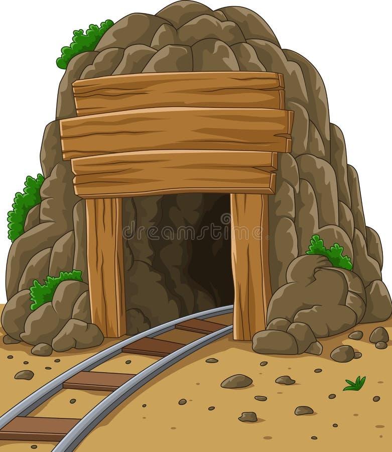 Kreskówki kopalniany wejście ilustracji