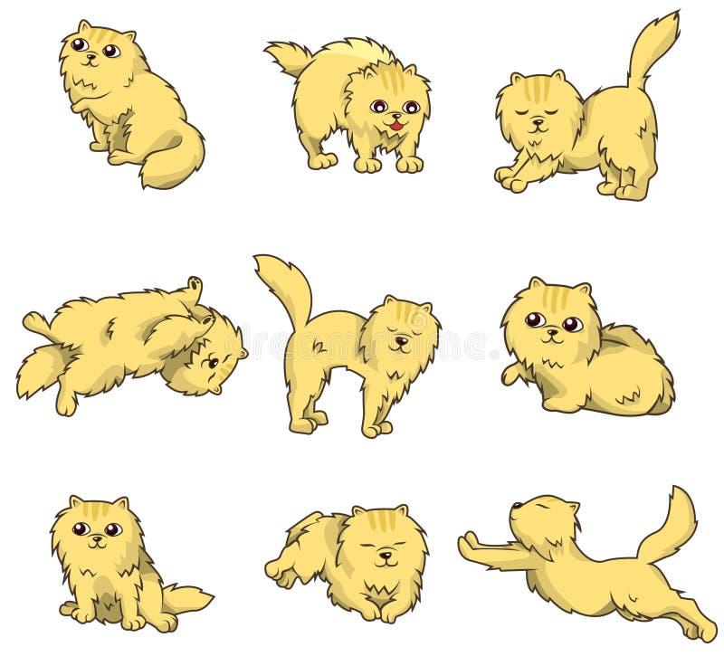 kreskówki kota ikona ilustracja wektor