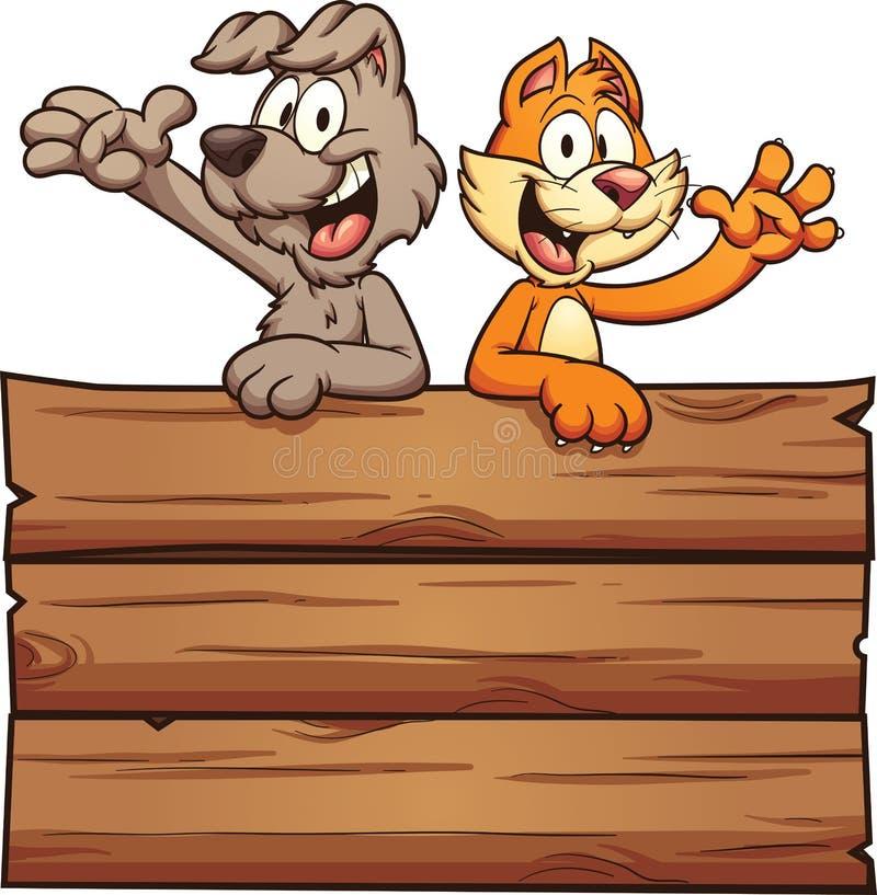 kreskówki kota pies ilustracja wektor