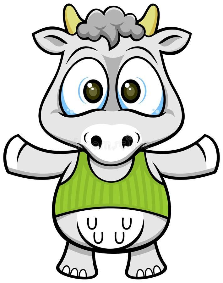 Kreskówki krowa 02 ilustracja wektor