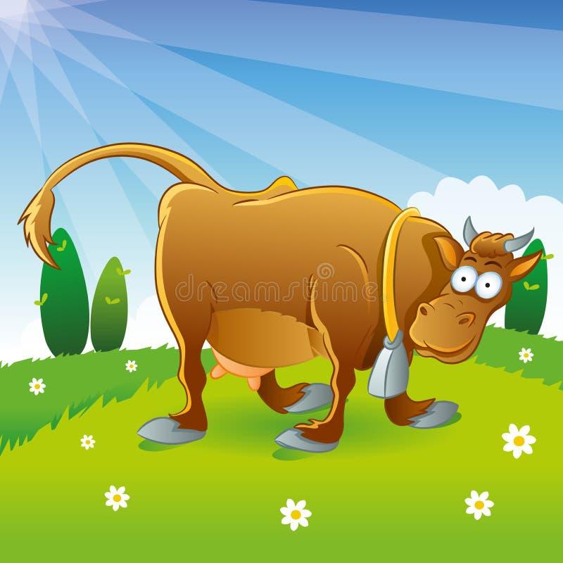 kreskówki krowy ilustracja ilustracja wektor