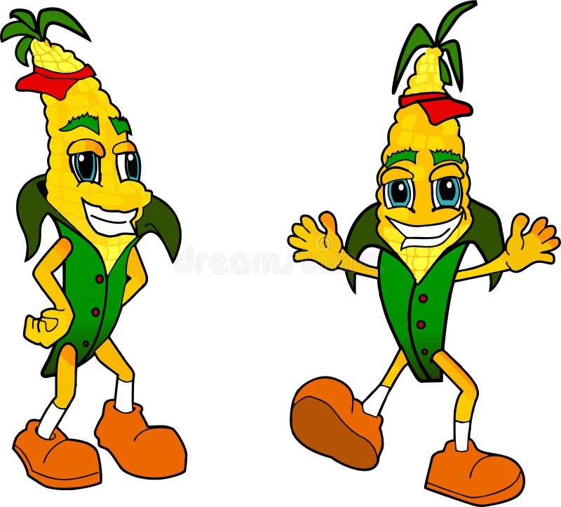 Kreskówki kukurydza zdjęcia royalty free