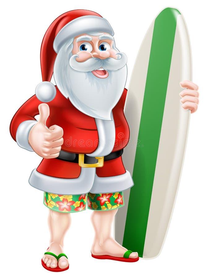 Kreskówki lato Santa ilustracja wektor