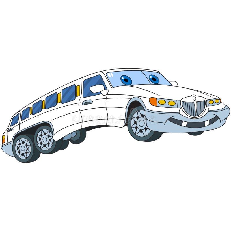Kreskówki limuzyny samochód royalty ilustracja