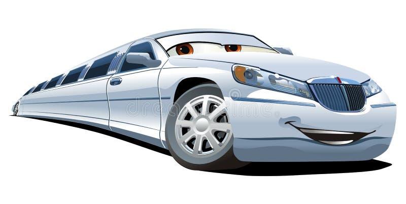 kreskówki limuzyny wektor ilustracji