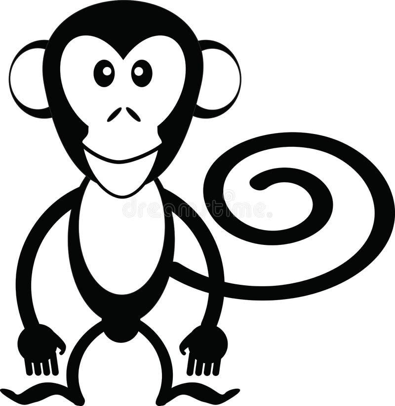 kreskówki małpa ilustracja wektor