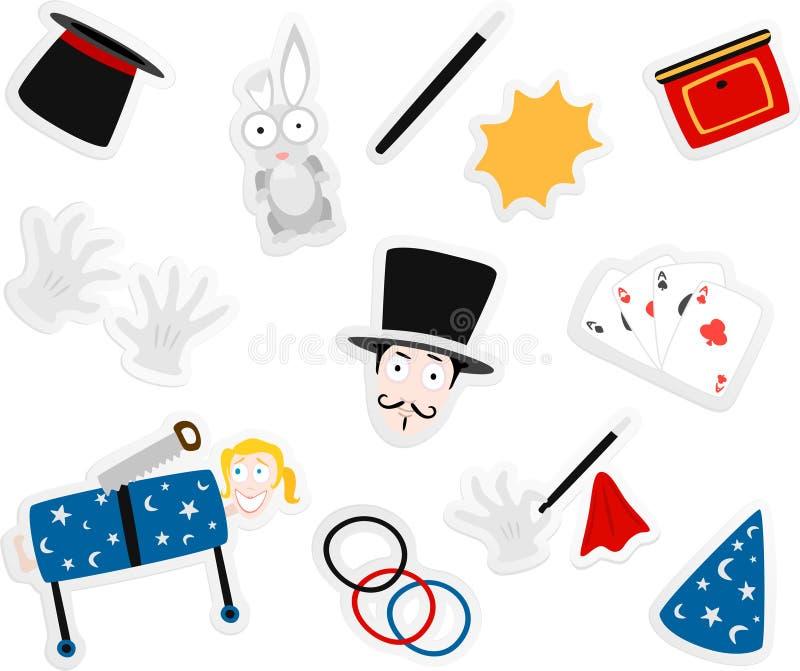 kreskówki magiczne royalty ilustracja
