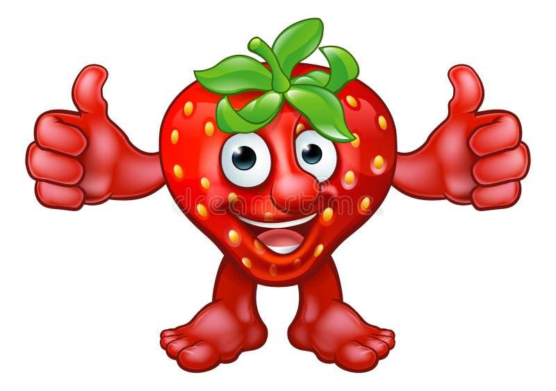 Kreskówki maskotki Truskawkowy Owocowy charakter royalty ilustracja