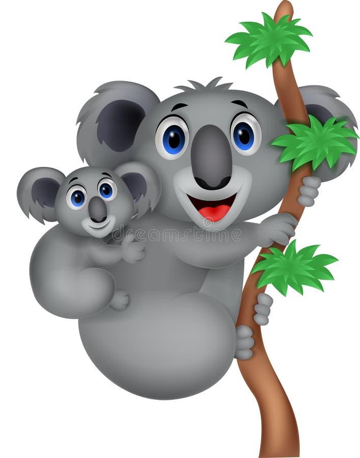 Kreskówki matka i dziecko koala royalty ilustracja