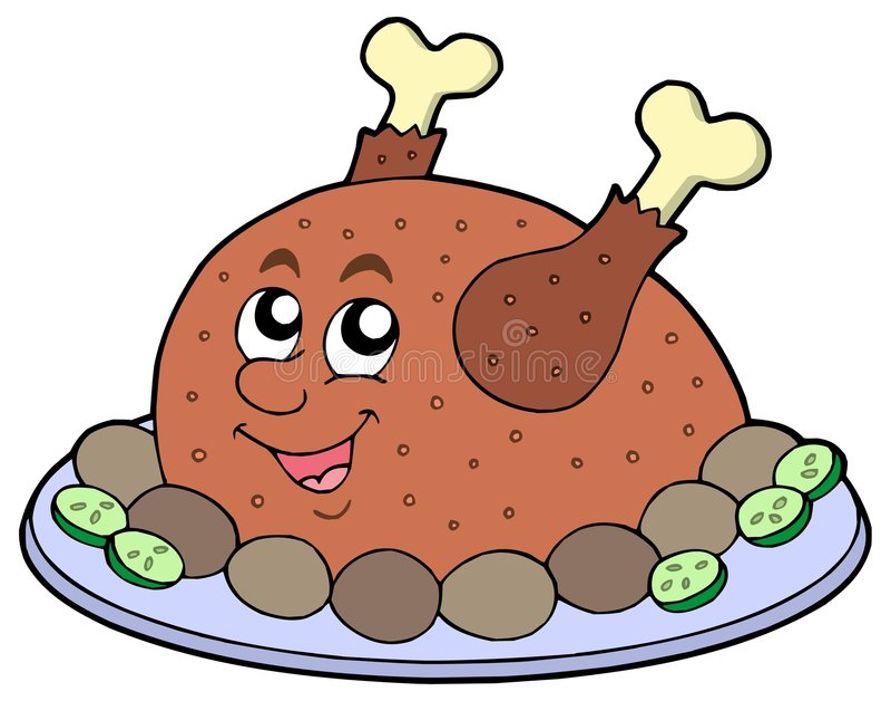 kreskówki mięsa pieczeń ilustracji