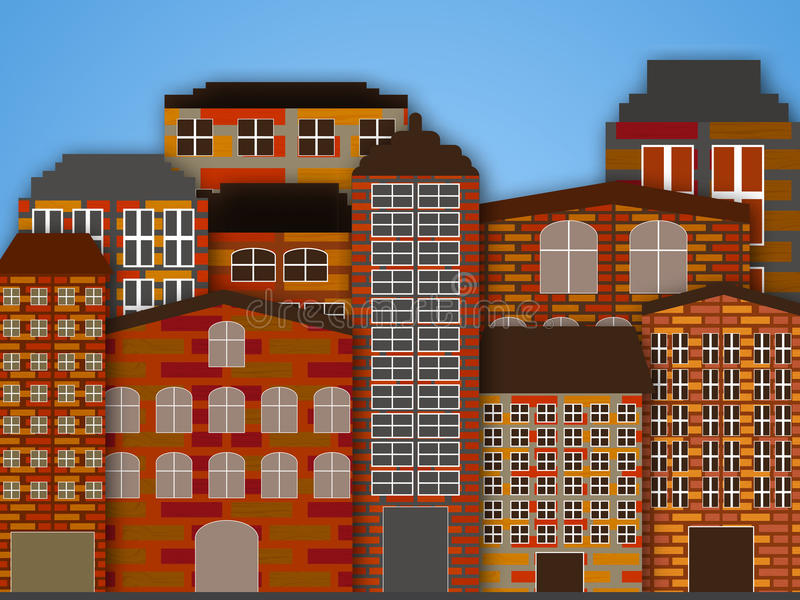 Kreskówki miasto royalty ilustracja