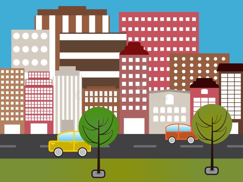 Kreskówki miasto ilustracji