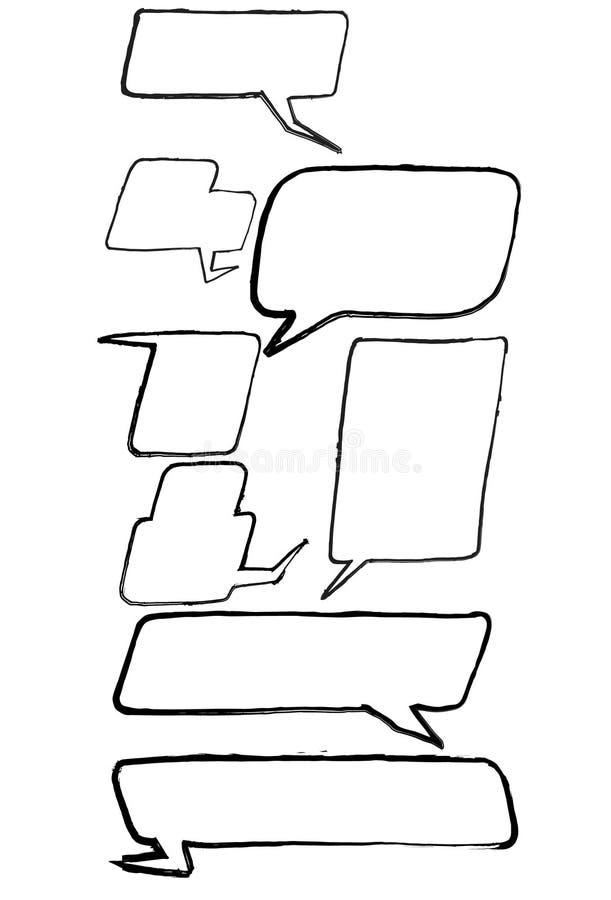 Kreskówki mowy komiczni bąble ilustracja wektor