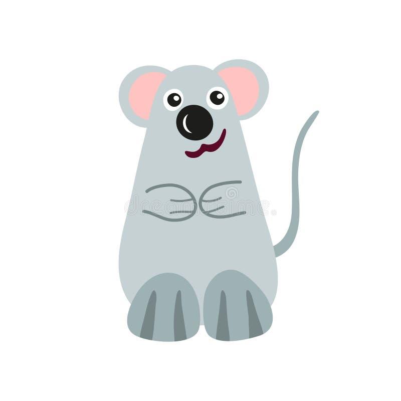 Kreskówki mysz, stylizowany śmieszny potwór ilustracja wektor