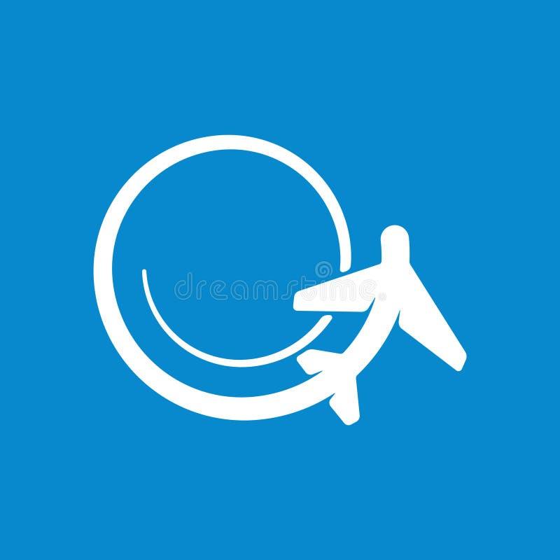 Kreskówki nakreślenia ikony wektoru samolotowa ilustracja ilustracji