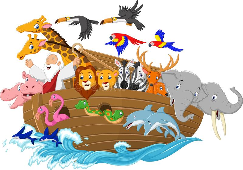 Kreskówki Noah ` s arka ilustracja wektor