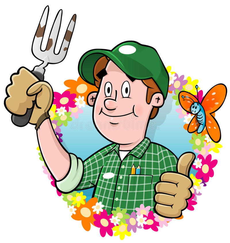 kreskówki ogrodniczki logo royalty ilustracja