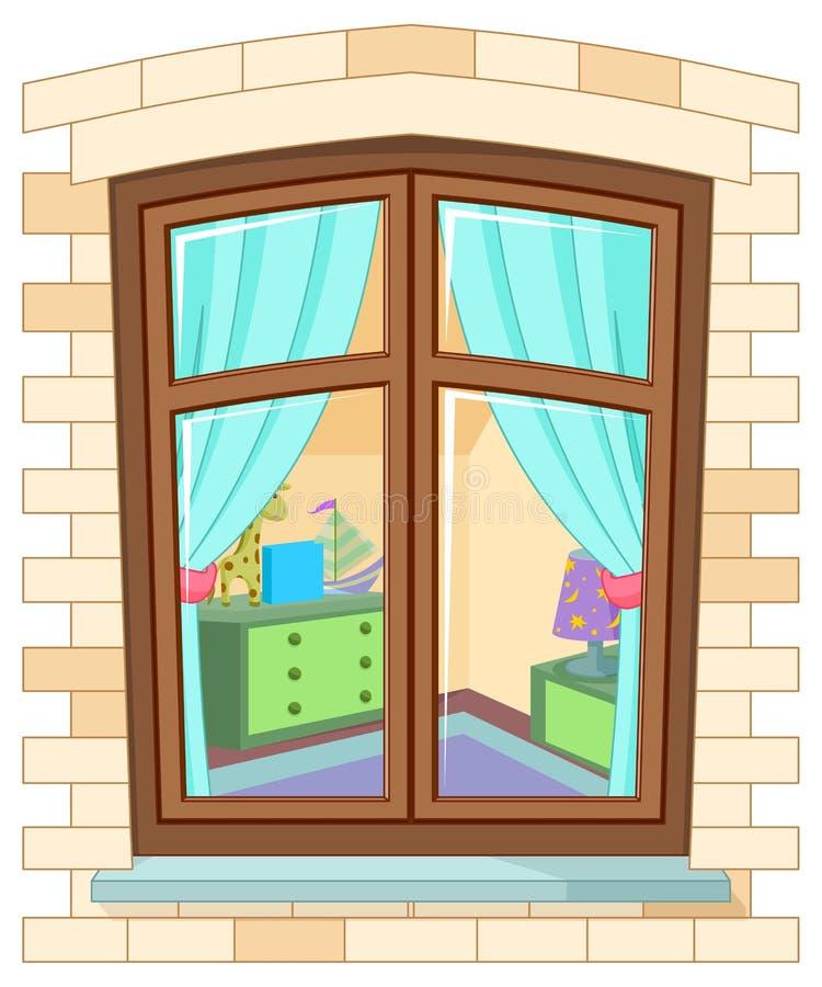 Kreskówki okno royalty ilustracja