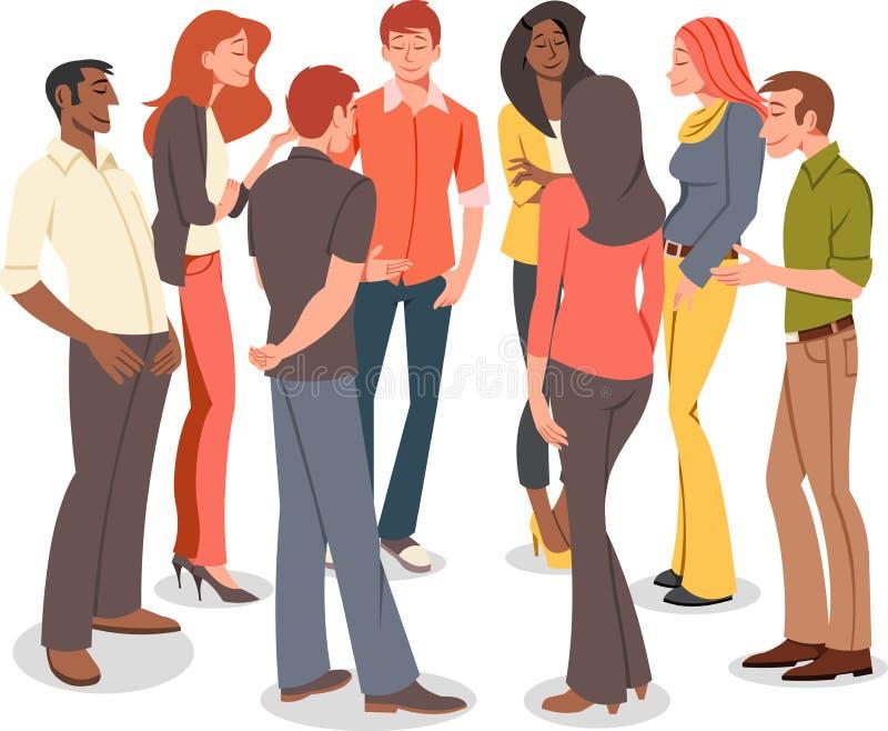 Kreskówki opowiadać młodzi ludzie royalty ilustracja