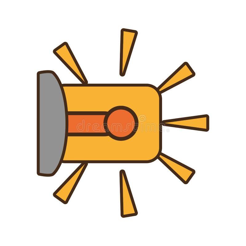 Kreskówki ostrzeżenia alarma ostrzeżenia systemu bezpieczeństwa pracy projekt royalty ilustracja