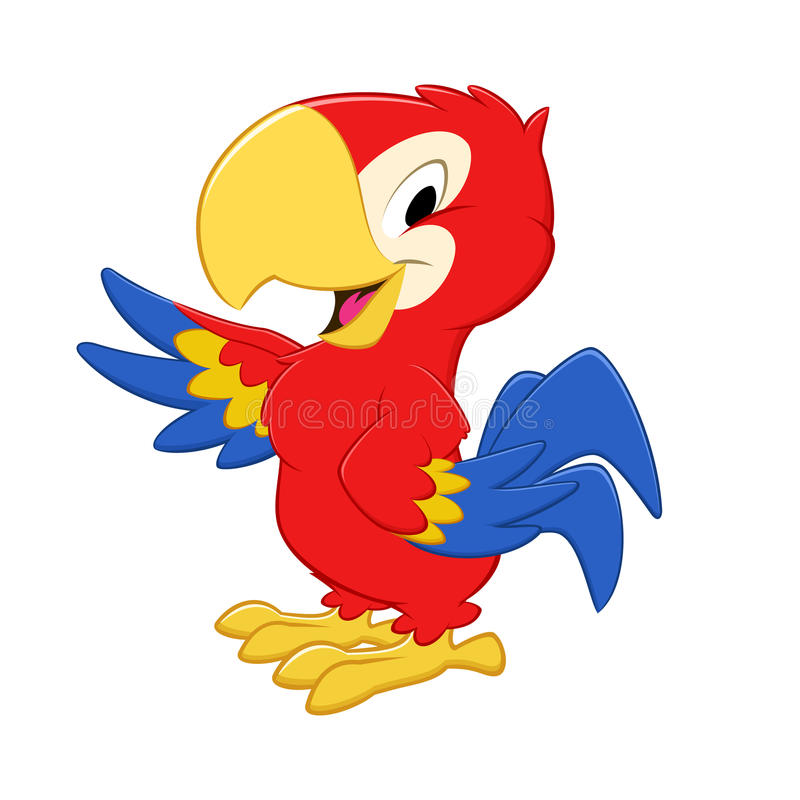 Kreskówki papuga royalty ilustracja