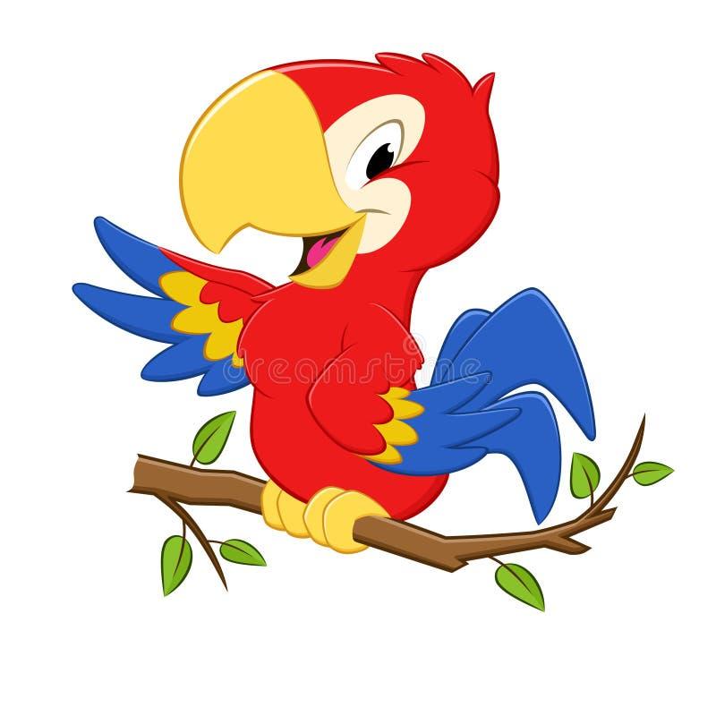 Kreskówki papuga ilustracja wektor