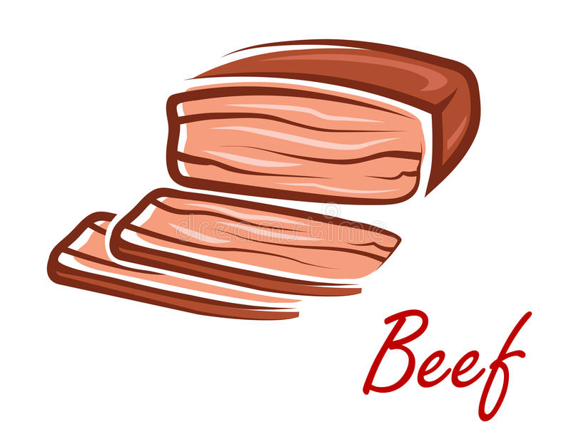 Kreskówki pieczona wołowina w retro stylu ilustracji