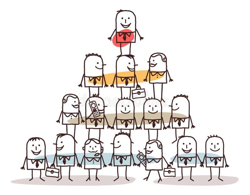 Kreskówki przywódctwo i ludzie biznesu ilustracja wektor