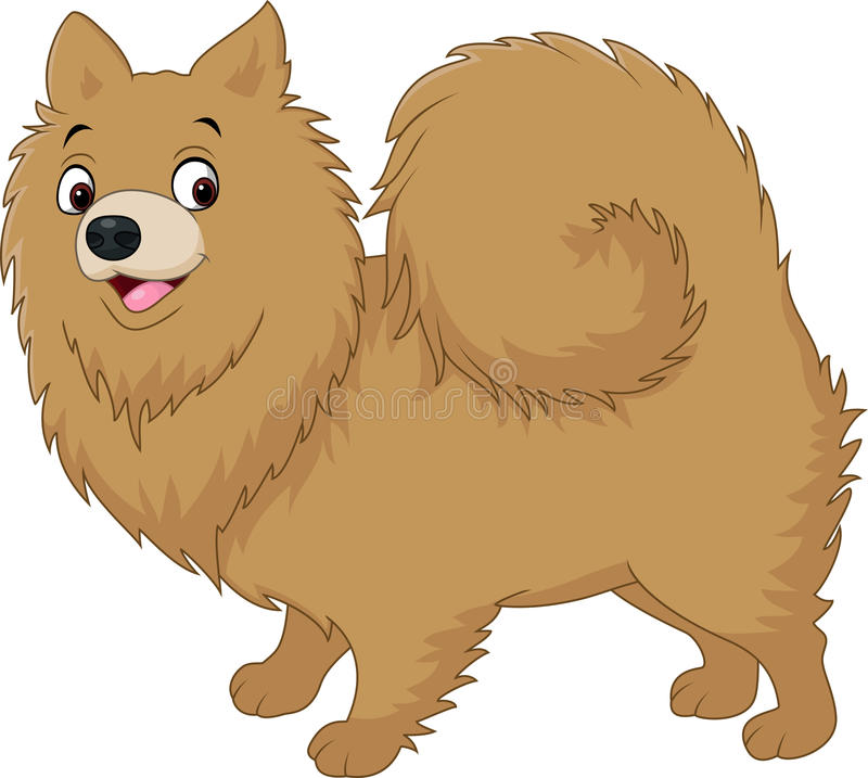 Kreskówki psi pomeranian husky royalty ilustracja