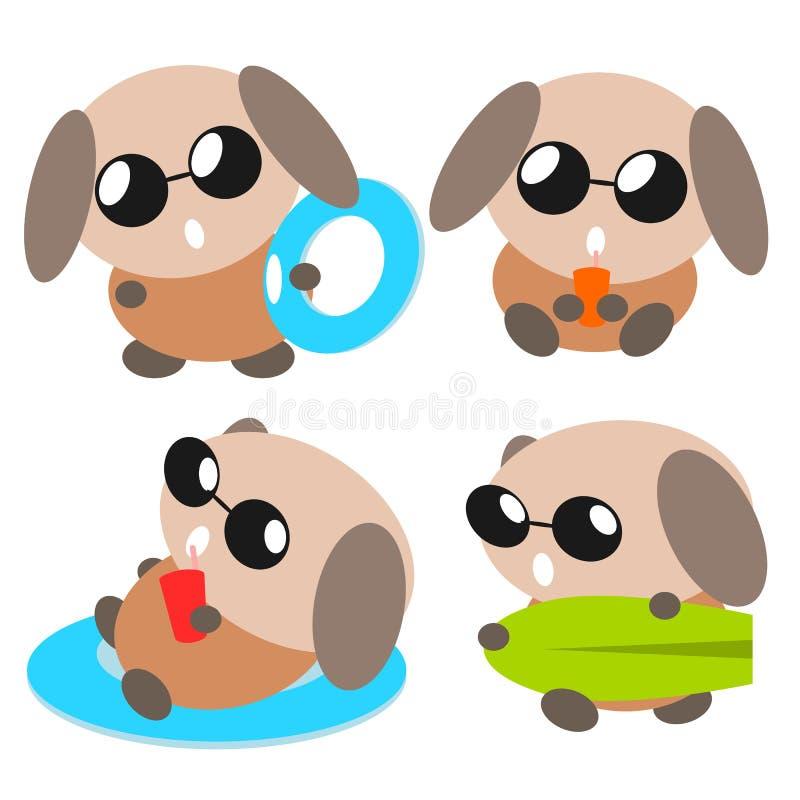 Download Kreskówki psia ilustracja ilustracja wektor. Ilustracja złożonej z brąz - 28972732