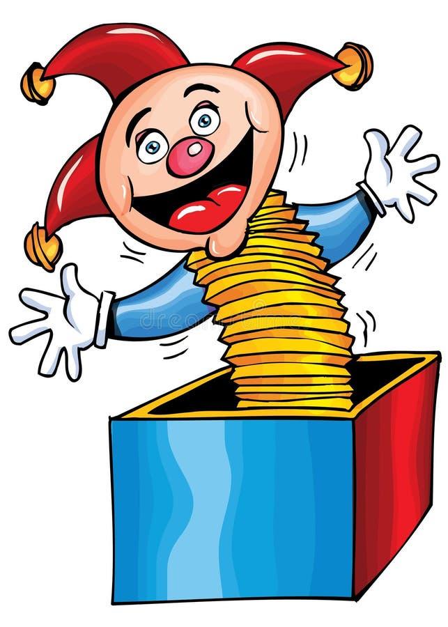 kreskówki pudełkowata dźwigarka ilustracja wektor
