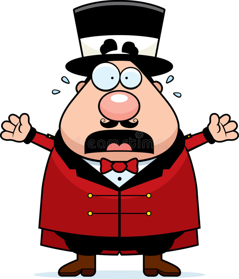 Kreskówki Ringmaster Cyrkowa panika royalty ilustracja