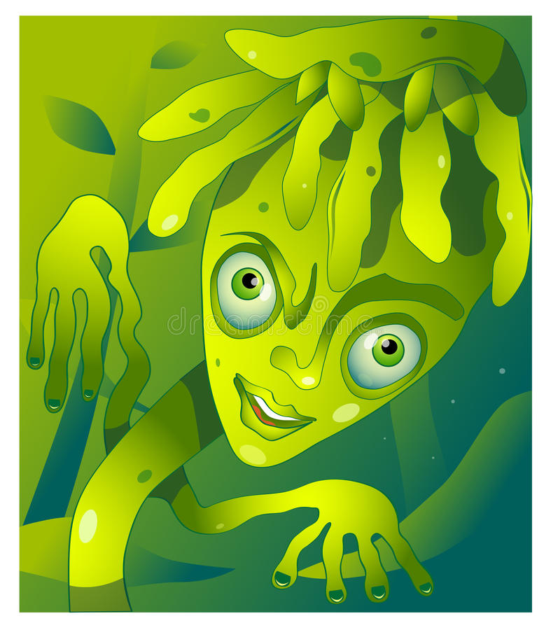 Kreskówki rośliny charakter obraz royalty free
