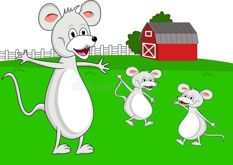 kreskówki rodziny mysz royalty ilustracja