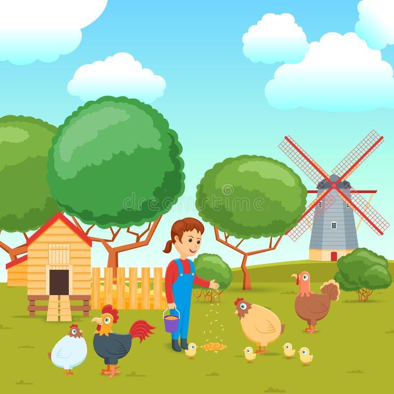 Kreskówki rolniczy pojęcie 02 royalty ilustracja